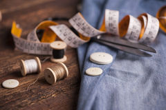 Accessoires de couture photos stock