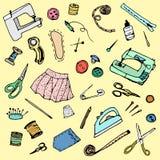 Accessoires de couture de vecteur Images stock
