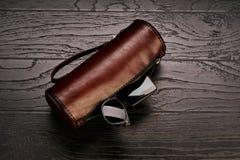 Accessoires de cuir véritable du ` s d'hommes Photo stock