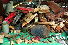 Accessoires de cuisine en métal Photographie stock