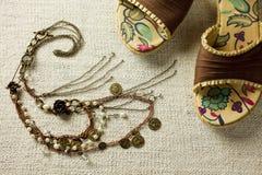 Accessoires de dames de BoHo Images stock