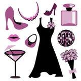 Accessoires de femme réglés Photo libre de droits
