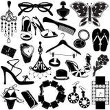 Accessoires de femmes illustration de vecteur