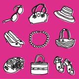 Accessoires de filles réglés Image libre de droits