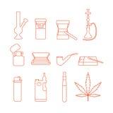 Accessoires de fumage illustration libre de droits