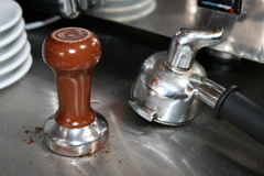 Accessoires de générateur de café Photo stock