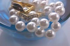 Accessoires de jour du mariage Photo stock