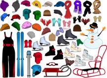 Accessoires de l'hiver Image stock