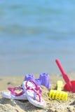 Accessoires de la plage des enfants Images stock