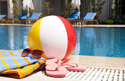 Accessoires de las vacaciones de verano Imágenes de archivo libres de regalías