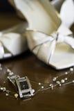 Accessoires de mariage Photographie stock