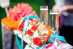 Accessoires de mariage Photo stock