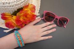 Accessoires de mode de jeunes filles Images stock