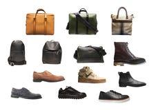 Accessoires de mode du ` s d'hommes sur le fond blanc Image libre de droits