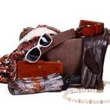 Accessoires de mode femelles d'automne Photo stock