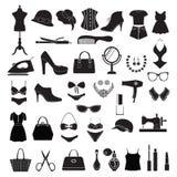 Accessoires de mode - illustration Image libre de droits