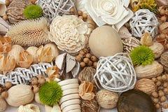 Accessoires de Natyral pour la décoration à la maison Photo stock