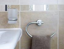 Accessoires de salle de bains Images libres de droits