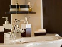 Accessoires de salle de bains Images stock