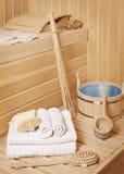 Accessoires de salle de bains de vapeur Image stock