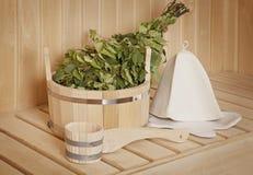 Accessoires de sauna Images libres de droits