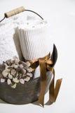Accessoires de sauna Photographie stock libre de droits