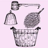 Accessoires de sauna illustration libre de droits