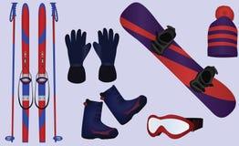 Accessoires de sport d'hiver Image libre de droits