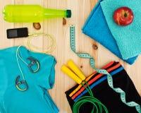 Accessoires de sport pour des classes de forme physique Images libres de droits