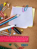 Accessoires de Stationery.School Image stock