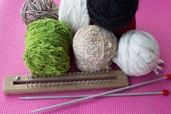 Accessoires de tricotage Photos libres de droits