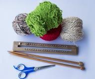 Accessoires de tricotage Images libres de droits