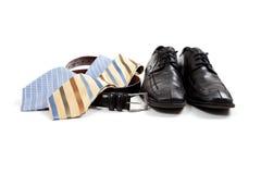 Accessoires de vêtement des hommes assortis Images libres de droits