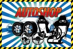 Accessoires de voiture Images stock