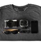 Accessoires de voyage Photographie stock