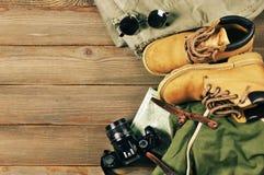 Accessoires de voyage réglés Photos stock