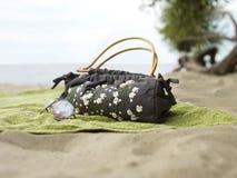 Accessoires en la playa Fotografía de archivo