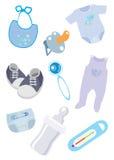 Accessoires et vêtements pour les graphismes d'enfant Image stock