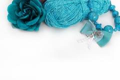 Accessoires faits main de turquoise Images stock