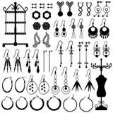 Accessoires femelles de femme de fille de Jewelery de boucle d'oreille FLB illustration de vecteur