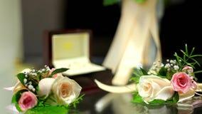 Accessoires importants de mariage banque de vidéos