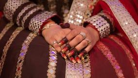 Accessoires indiens de jeune mariée Images stock