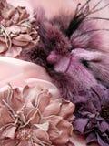 Accessoires lilas Photographie stock libre de droits