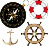 Accessoires marins Images libres de droits