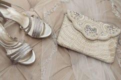 Accessoires nuptiales de vintage Photo libre de droits