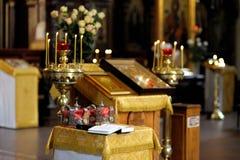 Accessoires orthodoxes de mariage Image libre de droits