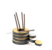 Accessoires pour l'acuponcture. image stock