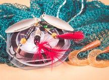 Accessoires pour la pêche Appâts Images libres de droits