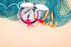Accessoires pour la pêche Appâts Images stock