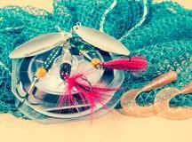 Accessoires pour la pêche Appâts Photo stock
